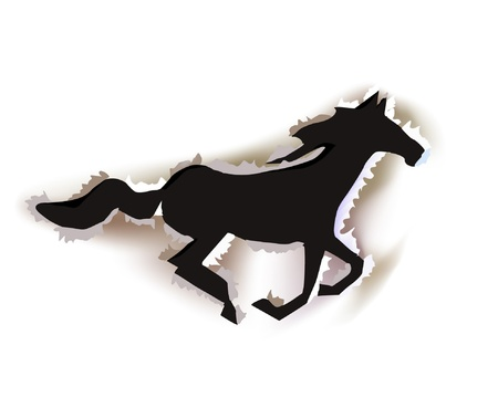 primitives: running paper horse