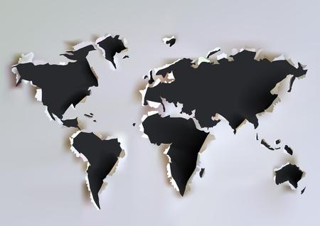 cartina del mondo: collezione carta mappa Vettoriali