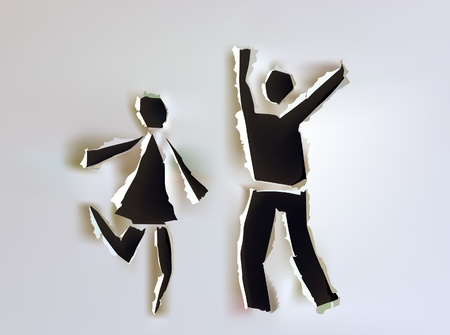 paper collectionHappy people Vector