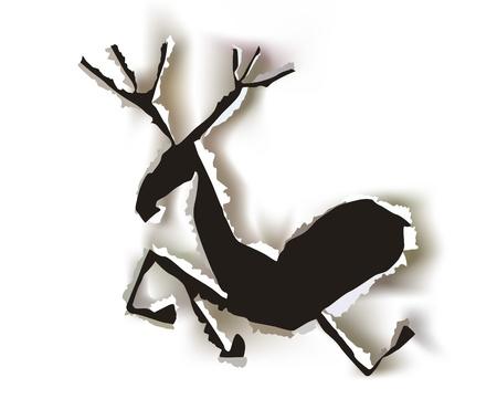 running reindeer: reindeer