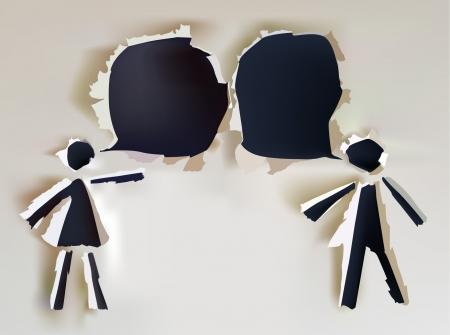 interacci�n: hablando de la colecci�n de papel de personas Vectores