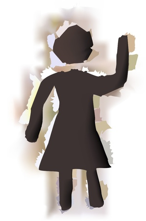 paper collection  Woman  Vector