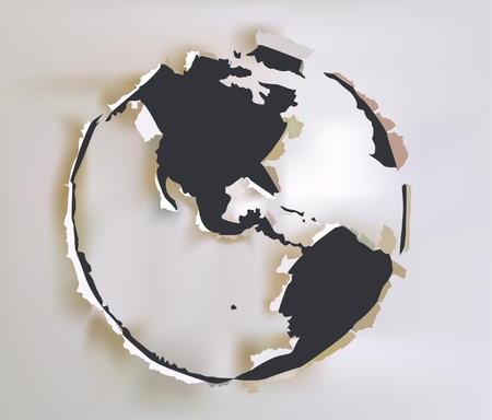 paper collection Globe Vector