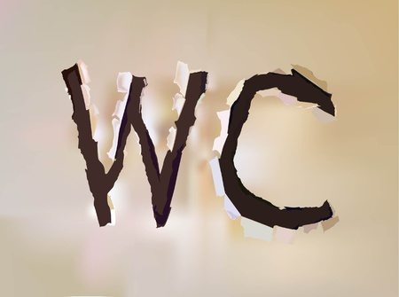 w c: letter WC  Illustration