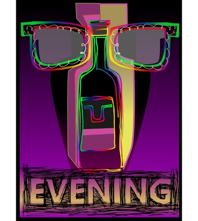 Night in the city poster Vector