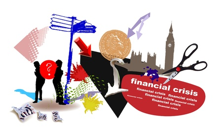 financial crisis illustration Vector