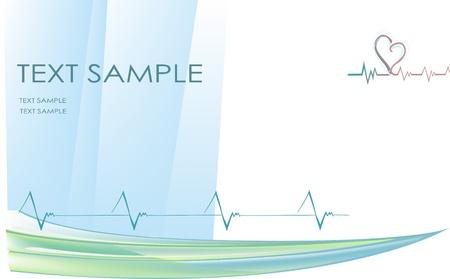 monitore: Vektor-Illustration von stilisierten Herzschl�ge