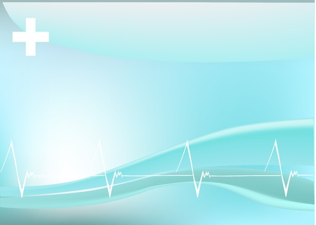 rhythm: Vector illustration of stylized heartbeats