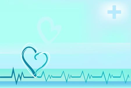 battement du coeur: Illustration vectorielle de pulsations stylis�es Illustration