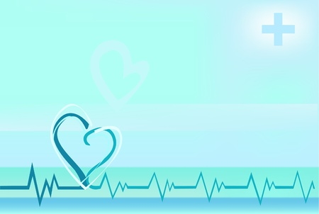 cardiogram: Vector illustration of stylized heartbeats