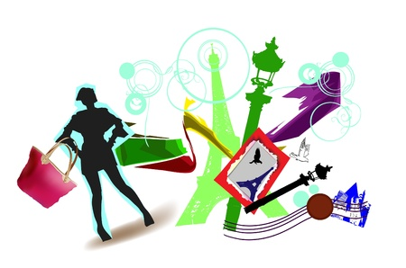 travel time illustration Stock Vector - 10386489