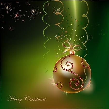 flower font: christmas background  Illustration