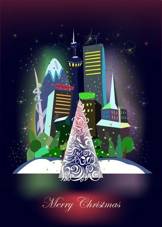 Christmas eve in the city Stock Vector - 10386500