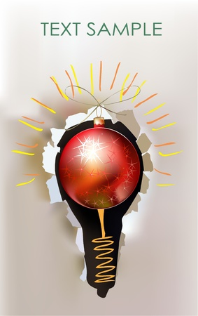 technological: Christmas bulb