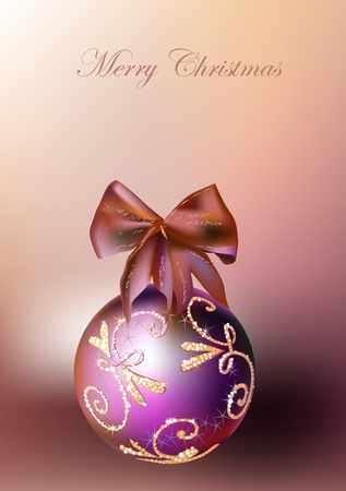 bead jewelry: Christmas background with ball