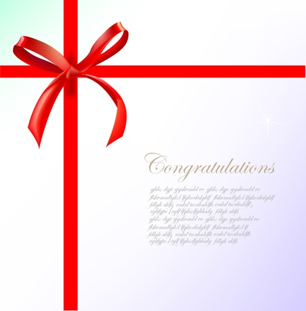 certificate bow: background with bow and ribbon