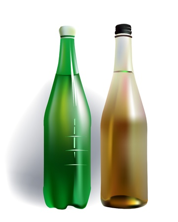 mineral: mineral and fruits water Illustration
