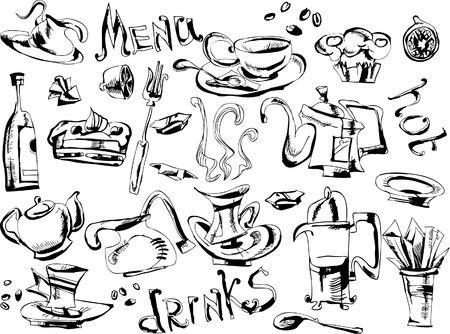 doodle for menu design Vector
