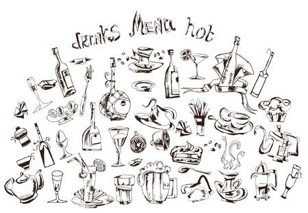 mag: doodle pour la conception de menus Illustration