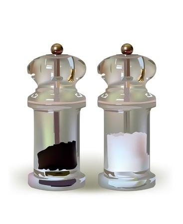 poivre noir: sel et poivre