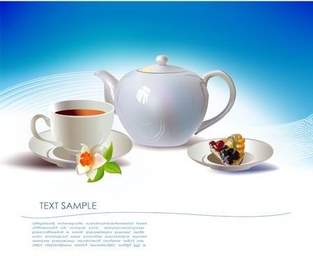 tea time  Stock Vector - 10402268