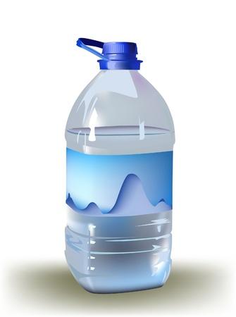 mineralien: Flasche Wasser