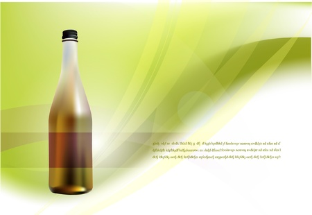 background with bottle Stock Vector - 10402306
