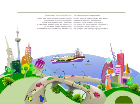 lading: port illustration Illustration
