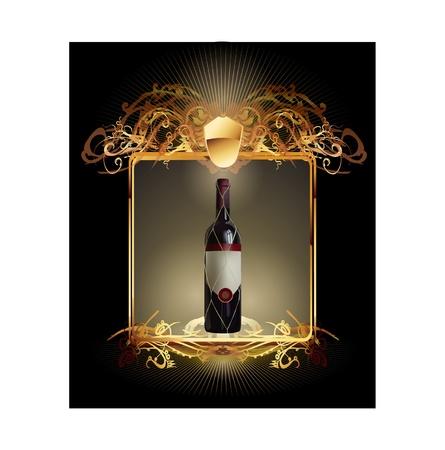 corona navidad: etiqueta de vino