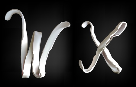 plasticine alphabet  Vector