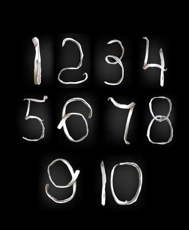 plasticine numbers Vector