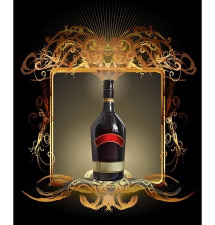 liqueurs: wine label
