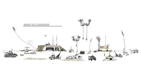gravity: army illustration