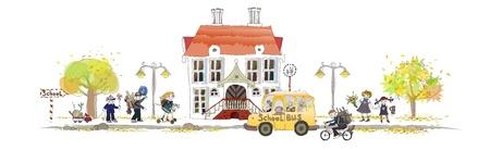 transporte escolar: volver a la escuela