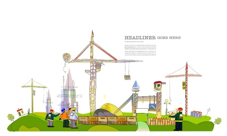 site background: building site illustration
