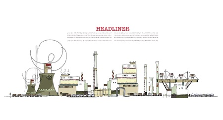 steel factory: industrial zone illustration