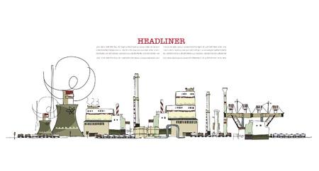 steel construction: zona industriale di illustrazione