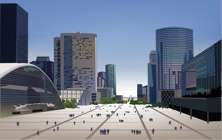 green street: aria de negocios modernos Vectores