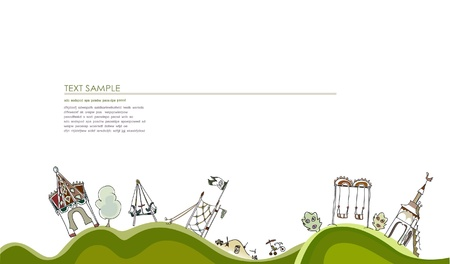 playground equipment: children Illustration