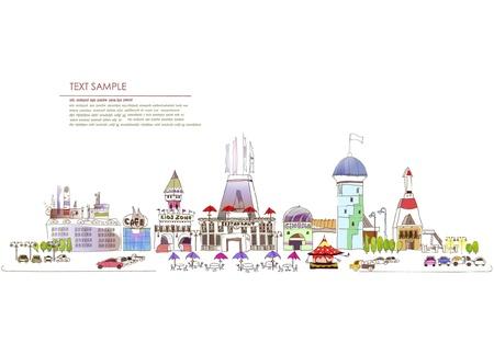 Ilustración de centro comercial