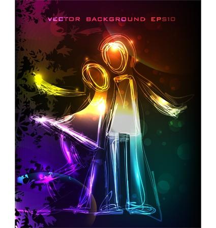 neon HUG Stok Fotoğraf - 10403067