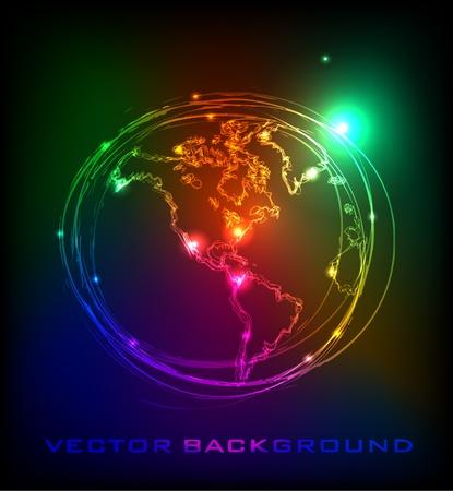 neon wallpaper: il pianeta Terra