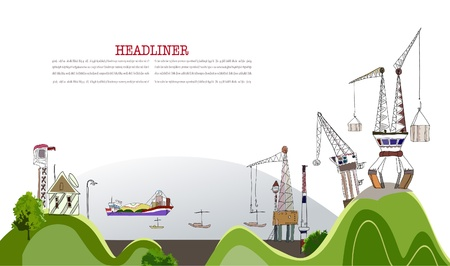 sea port: port illustration Illustration