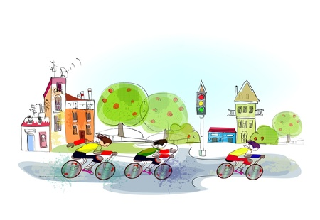 cycle ride: sport race Illustration