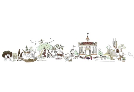 gazelle: zoo Illustration