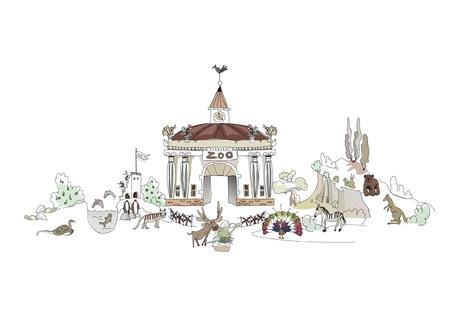 lake house: zoo illustration (see other parts) Illustration