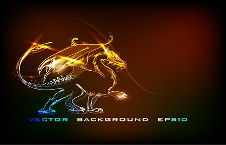 taoisme: neon draak