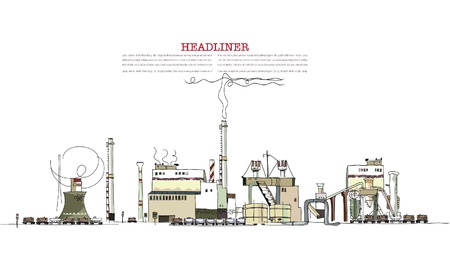 polluting: industrial zone illustration