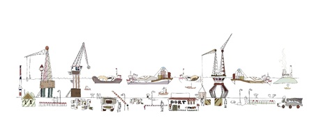 digne: Illustration du grand port Illustration