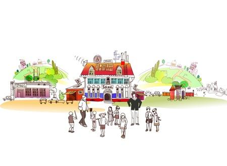 sch�ler: Schule Illustration Illustration